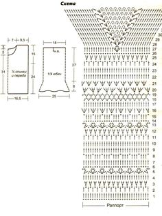 вязание крючком сарафаны платья женские схемы: 11 тыс изображений найдено в Яндекс.Картинках