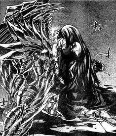 Pandora llora por la muerte de Radamanthys
