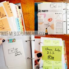 Post it notes in a three ring binder. Great for organizing ideas.
