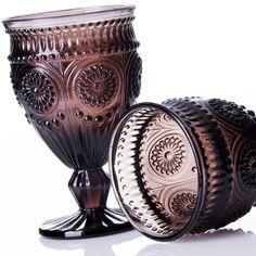 Copas de cristal decorado. Copas de vino. unimasa.es