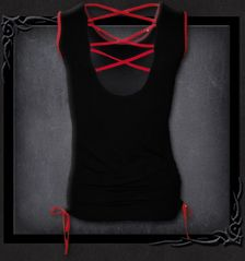 NOBLE DRAGON - Back Strap Top Red Black - I like the verse on this one