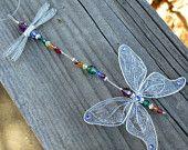 Suncatcher  Dragonfly- Birthstones & 28 More Swarovski Colors - GOLD Toned Small Dazzlefly. $24.00, via Etsy.