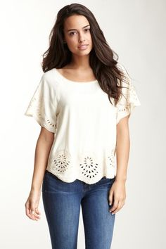 sugarlips embroidery blouse