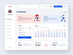 Happy to share a dashboard design where users can plan and track their workouts and keep an eye on their health stats. — I'm available for new projects. Let's talk! 0 views 126 likes 28 saves Dashboard Interface, Dashboard Design, Mobile Design, App Design, Ui Design Inspiration, Can Plan, Ui Web, Show And Tell, Data Visualization