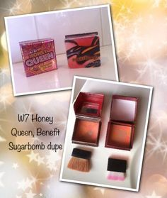 I recently bought this W7 Honey Queen blush from Chemist Warehouse for $4.99 and it's a perfect dupe of my Benefit Sugarbomb!