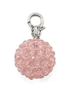 Damen Charm Anhänger Glasperle, rosa von Fashion Jewelry bei www.meinkleidchen.de