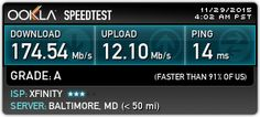 Check out my result from Ookla Speedtest!