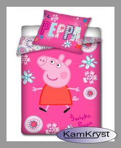 Peppa Pig 100x135 cm - baby crib bedding store KamKryst | Świnka Peppa 100x135 cm - pościel dziecięca do łóżeczka w sklepie KamKryst #peppa #peppa_pig #peppa_pig_bedding