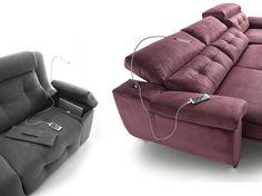 Accesorios #Sofás #Acomodel. Conexión USB y Lámpara http://www.aristamobiliario.es/blog/sofas-acomodel-para-acomodarte/