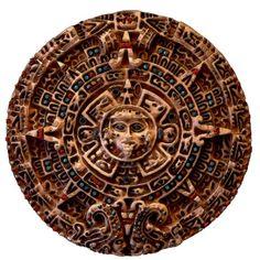 MAYAN AZTEC Mexican History Sun (sculpted)