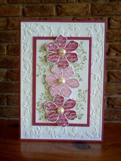 Vintage with Pearls by Sarah B - Cards and Paper Crafts at Splitcoaststampers
