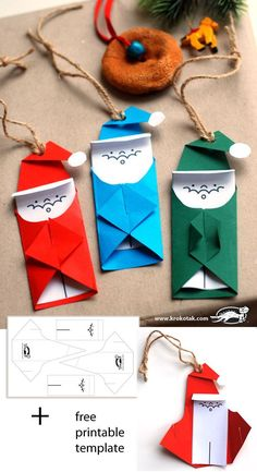 printable template to make the Santa label--calls for an additional sheet of colored paper