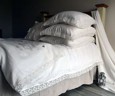 "Natural softened linen duvet cover ""Provincial Living"", Ivory, Queen and King sizes available on Etsy, $266.50"