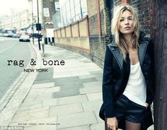 KATE MOSS FRONTS FIRST RAG & BONE CAMPAIGN