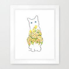 Children's Art Print 8 x 10 Gorgeous Cat Silhouette Nursery Art Child's Room Girls Room Children Floral Art. $14.95, via Etsy.