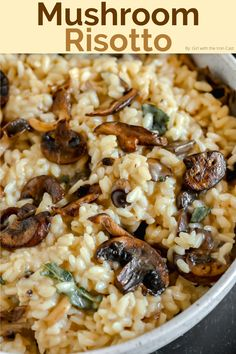 Risotto Dishes, Risotto Recipes, Sage Butter, Brown Butter, Brown Mushroom, Mushroom Risotto, Stuffed Mushrooms, Stuffed Peppers, Mushroom Recipes