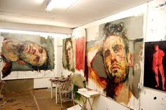 Inspired much? In awe at the work of Andrew Salgado. Got to be my favourite portrait painter. Portraits, Portrait Art, Painters Studio, A Level Art, Exhibition, Art Sketchbook, Figure Painting, Art Studios, Artist At Work