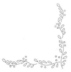 Embroidery pattern / French site with many patterns and monograms Border Embroidery, White Embroidery, Silk Ribbon Embroidery, Vintage Embroidery, Embroidery Patterns Free, Hand Embroidery Designs, Hand Embroidery Stitches, Cross Stitch Embroidery, Border Pattern