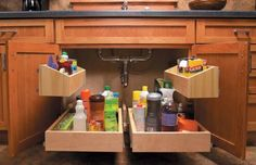 Brilliant Under-Sink Storage - 60+ Innovative Kitchen Organization and Storage DIY Projects