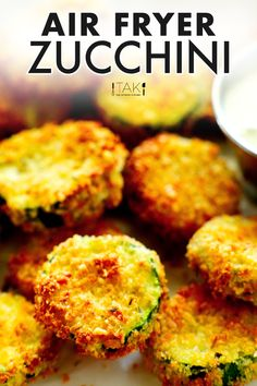 This healthy Air Fryer Zucchini recipe features sliced zucchini chips breaded in a crispy-crunchy Panko mixture, Parmesan cheese, and Italian seasoning! Serve it as a healthy side dish, as an appetizer to kick off any summer gathering, or as a snack! Best Appetizer Recipes, Best Appetizers, Healthy Recipes, Zucchini Chips, Healthy Zucchini, Air Fryer Healthy, Thing 1, Healthy Side Dishes, Southern Recipes