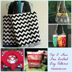Check out our list of the top 5 new quilted bag patterns on our site! You can find cute quilted tote bags, shoulder bags, and some trendy little handbags too.
