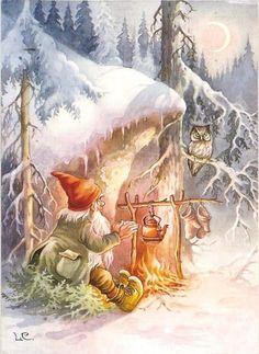 diy christmas gifts, smores christmas gift, teacher christmas gifts – All For Christmas Swedish Christmas, Christmas Gnome, Scandinavian Christmas, Christmas Art, Vintage Christmas, Christmas Gifts, Fairy Land, Fairy Tales, Christmas Illustration
