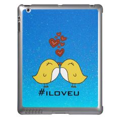 SWEET! This Product Qualifies For: 15% Off ALL Products + 25% Off ALL Cases! Celebrate the Launch of the New iPhone 5s/5c!    Use Code: IPHONELAUNCH  Check out: I Love U - Cute Lovebirds SkinIt LeNu iPad Case  #ipads #lovebirds #cute #cases