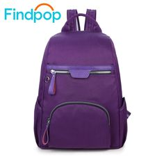 29.60$  Watch here - http://alifbn.shopchina.info/go.php?t=32773215609 - Findpop Women Backpack School Bags Casual Travel Bags Famous Brand Women Laptop Backpacks Female 2017 Fashion Nylon Women Bags  #buyonline