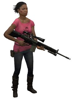 Left 4 Dead 2 Rochelle. Many people seem to have a problem with her, but I can't see why