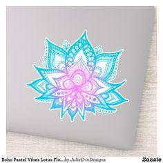 Boho Pastel Vibes Lotus Flower Sticker
