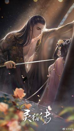 For all their beauty, elves are vindictive creatures Fantasy Love, Fantasy Art Men, Beautiful Fantasy Art, Anime Fantasy, Fantasy Artwork, High Fantasy, Anime Couples Drawings, Anime Couples Manga, Anime Art Girl