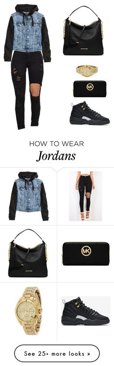 """""""Untitled #561"""" by msnh on Polyvore featuring H&M, NIKE, MICHAEL Michael Kors and Michael Kors"""