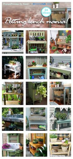 DesignDreams by Anne: Potting Bench Mania!! Finding Inspiration on Hometalk