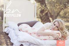 Bump Nest™ Body Pillow in Honeysuckle Peacock