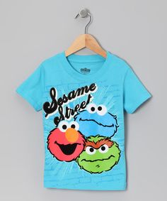 Take a look at this Light Blue 'Sesame Street' Trio Tee - Toddler by Sesame Street on #zulily today!