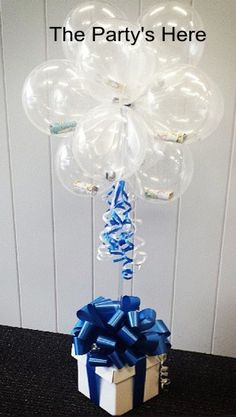 Give someone some lottery tickets inside balloons! What a nice way to jazz up an otherwise unexciting gift. www.thepartyshere.com.au