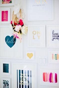 | Home Office Tour | http://monikahibbs.com  I love this crazy awesome photo wall.