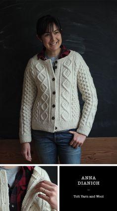 Knitalong FO No. 5: Anna Dianich  ~  Same pattern (Amanda)  ~  Different yarn ~ Imperial Yarn Columbia 2-Ply