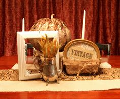 Vintage Thanksgiving decor...  The DIY Darling