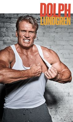 Dolph Lundgren, 58, shows off his muscular arms and ...