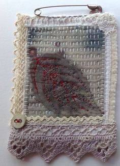 Hand printed and stitched by Marilyn Stephens