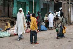 People in the streets of Harar (Harar Street Scenes, Harar, Ethiopia)