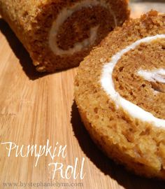 Pumpkin Roll...I ALWAYS make these for Thanksgiving...its my hubs favorite!  I add chopped pecans to the filling and sprinkle powdered sugar on the top!