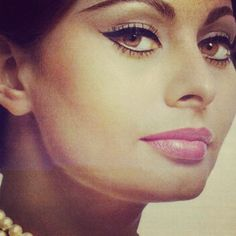 Sophia Loren; love her makeup style! I need to do this look MORE!
