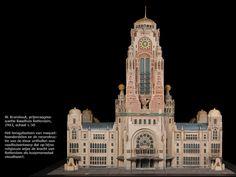 Willem Kromhout, maquette van het ontwerp voor het stadhuis van Rotterdam, 1913, schaal 1:50