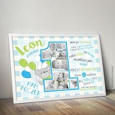 W pełni personalizowana metryczka roczkowa ze zdjęciami Twojego dziecka. #plakat #prezent #na #Ścianę #grafika #obrazek #dla #dziecka #pokój #pamiątka #handmade #poster #baby #pokojdziecka #memorabli #birthannouncement #babyroom #plakatydladzieci #roczek