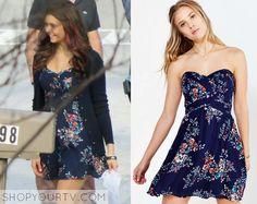 The Vampire Diaries: Season 6 Episode 20 Elena's Navy Floral Dress