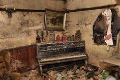 Image result for abandoned mansion with furniture still inside