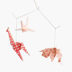Baby mobile / ZOO ORIGAMI MOBILE: Varese collection - Nursery Decoration - Baby Crib Mobile - Red