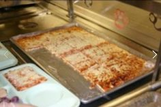 School lunch pizza